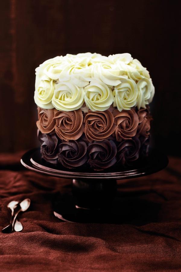 whole kitchen tarta 3 chocolates
