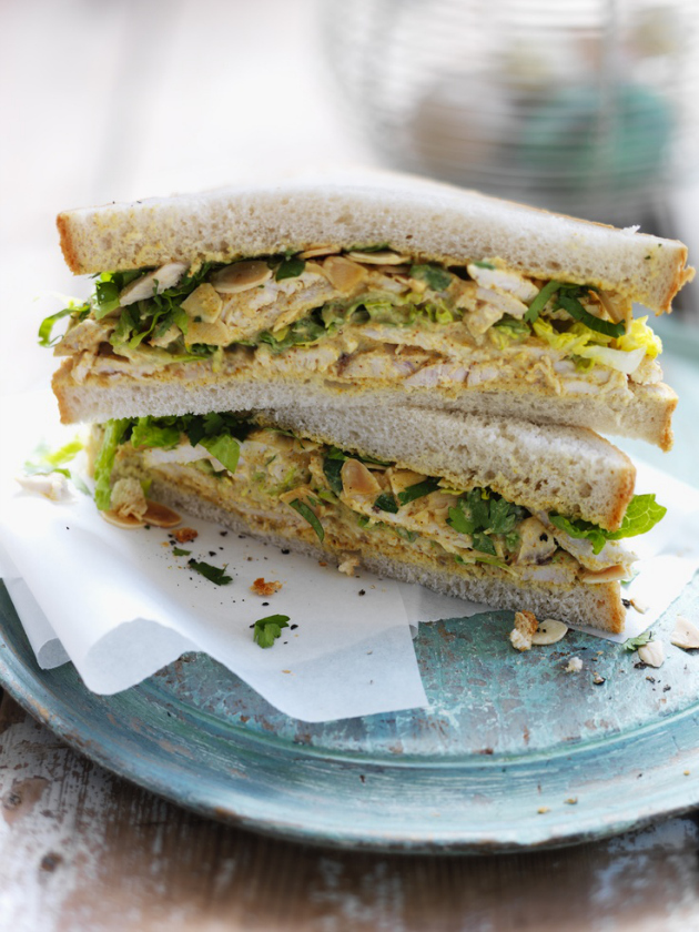 coronation chicken sand