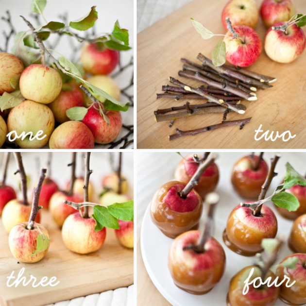 Step by step carmel apples