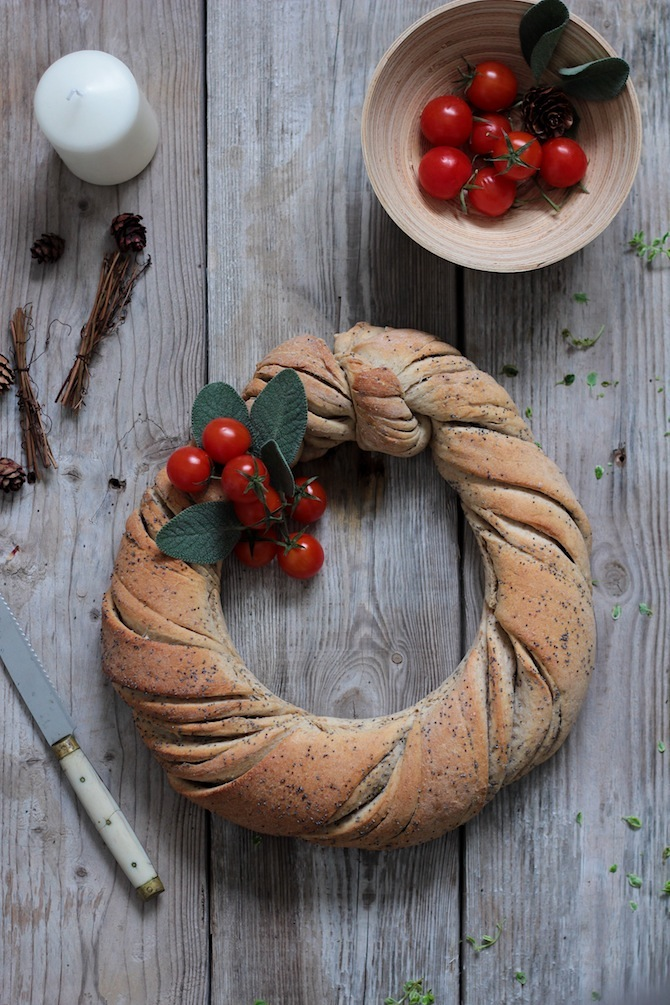 corona de pan amapola