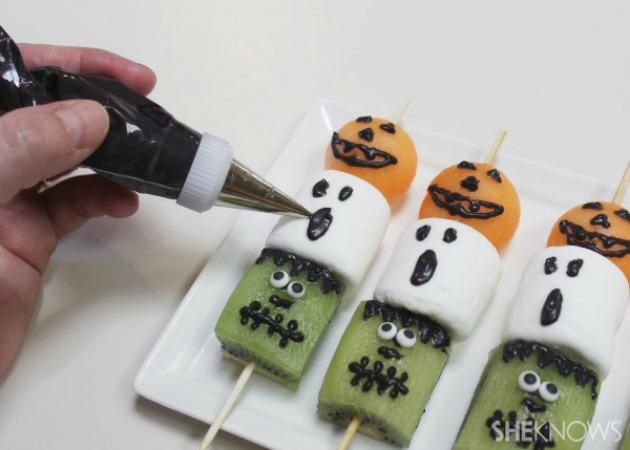 frutas halloween glasa