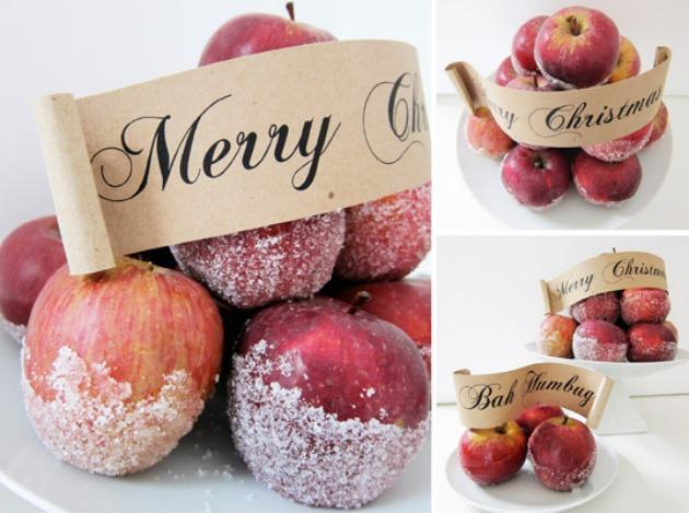 centros de mesa manzana