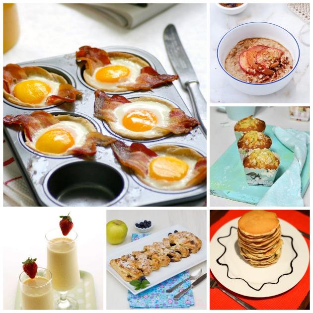 collage desayuno fin de semana