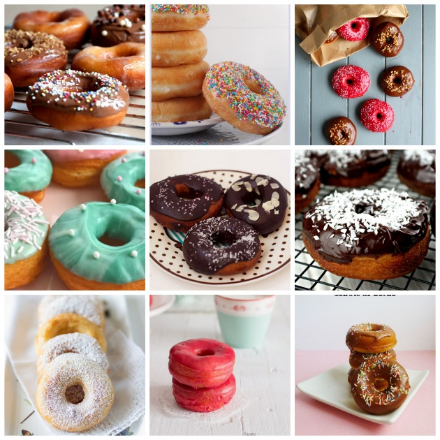 collage donuts
