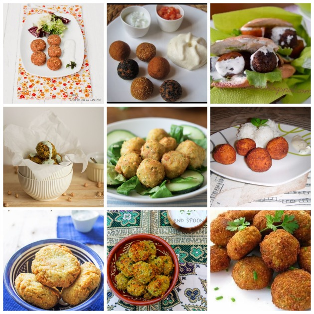 falafel collage