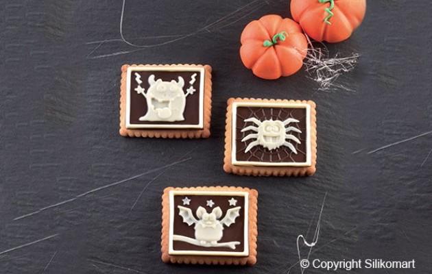 petit ecolier halloween cookie monster silikomart